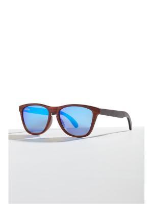 Бамбуковые очки Барселона Nothing but Love. Цвет: терракотовый, голубой, темно-коричневый