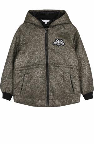 Куртка с капюшоном и металлизированной отделкой Marc Jacobs. Цвет: золотой