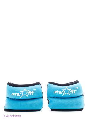 Утяжелители STAR FIT WT-101 для рук Браслет, 1 кг, синий/черный Starfit. Цвет: черный, синий