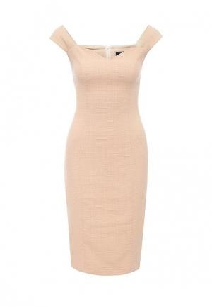 Платье Airoso. Цвет: бежевый