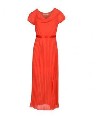 Платье длиной 3/4 RISSKIO. Цвет: коралловый