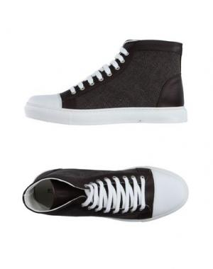 Высокие кеды и кроссовки EXIBIT. Цвет: темно-коричневый