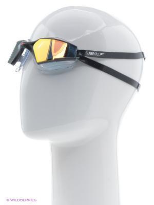 Очки для плавания Speedo. Цвет: золотистый, черный