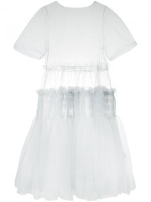 Платье Tang Molly Goddard. Цвет: серый