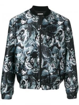 Куртка-бомбер  с принтом леопардов Paul & Joe. Цвет: зелёный