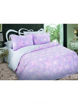 Комплект постельного белья 1,5сп, поплин BegAl. Цвет: бледно-розовый