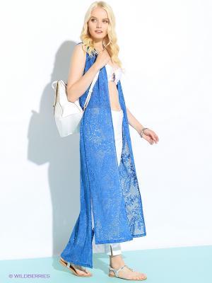 Накидка Colambetta. Цвет: голубой