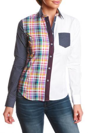 Рубашка GAZOIL. Цвет: multicolor