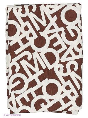 Скатерть Alba Venge T&I. Цвет: коричневый, белый