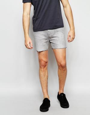 Religion Короткие джинсовые шорты. Цвет: серый