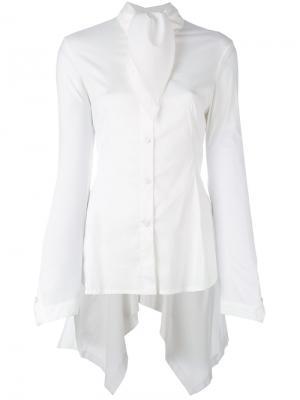 Блузка с бантом Masnada. Цвет: белый
