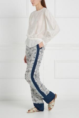 Шелковые брюки Talitha. Цвет: белый, черный, разноцветный
