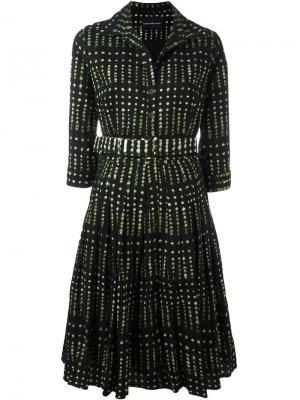 Расклешенное платье с узором Samantha Sung. Цвет: чёрный