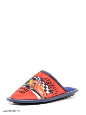 Туфли комнатные с верхом из текстильных  материалов детские. BRIS. Цвет: красный, синий