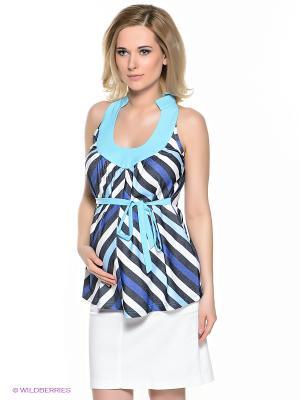 Блузка для беременных 40 недель. Цвет: голубой, белый, синий, антрацитовый