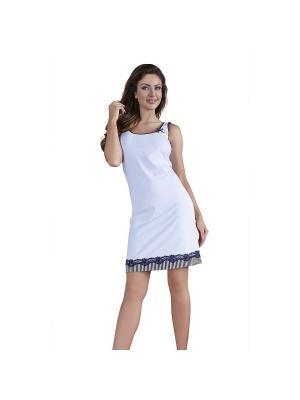 Платье Babella. Цвет: белый, синий