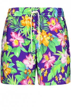 Плавки-шорты Polo Ralph Lauren. Цвет: сиреневый