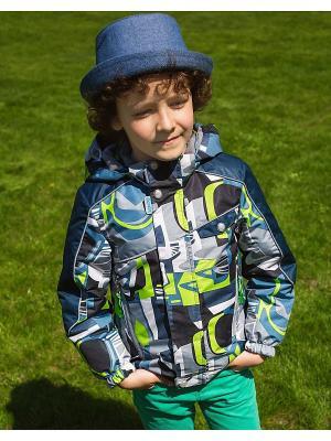 Куртка Oldos. Цвет: серый, зеленый