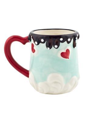 Кружка Biscuits Elff Ceramics. Цвет: зеленый, красный