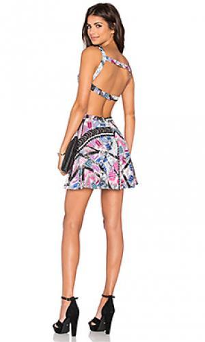 Приталенное и расклешенное платье paradisco NBD. Цвет: розовый