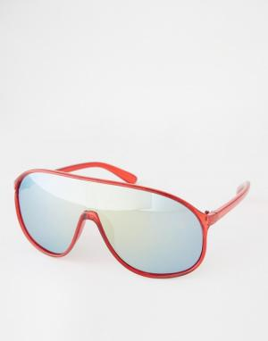 Trip Солнцезащитные очки-маска. Цвет: красный