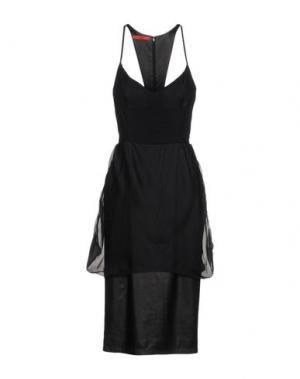 Платье длиной 3/4 TAMARA MELLON. Цвет: черный