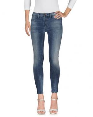 Джинсовые брюки DENHAM. Цвет: синий