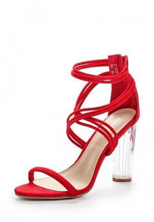 Босоножки Ideal Shoes. Цвет: красный