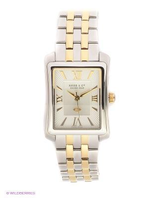 Часы HAAS & Cie. Цвет: серебристый, золотистый