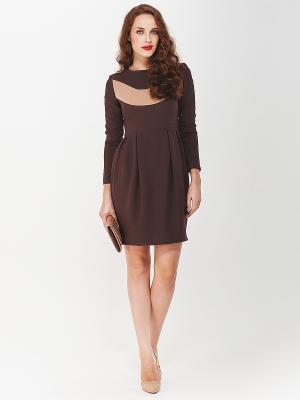 Платье La vida rica. Цвет: коричневый, бежевый