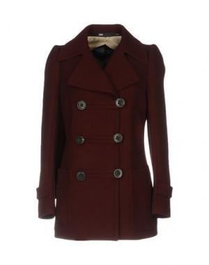 Пальто 6267. Цвет: красно-коричневый