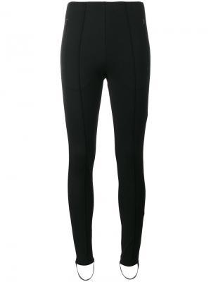 Узкие брюки-джоггеры со штрипками Fuseau Balenciaga. Цвет: чёрный