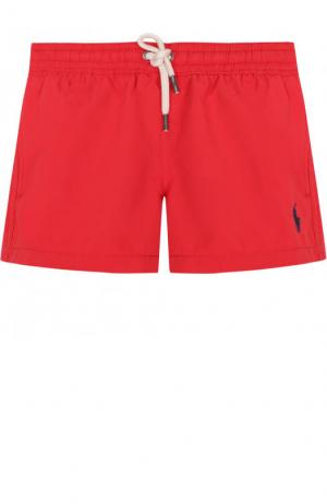 Плавки-шорты с логотипом бренда Polo Ralph Lauren. Цвет: красный