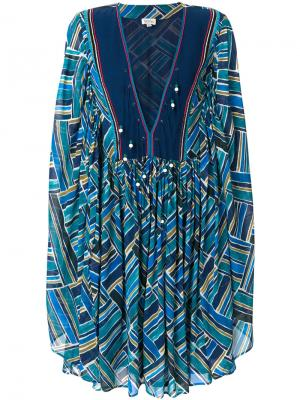 Короткое платье Jasmin Talitha. Цвет: синий