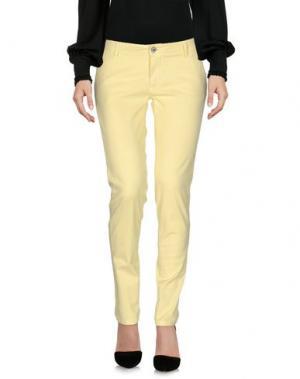 Повседневные брюки DIXIE. Цвет: желтый