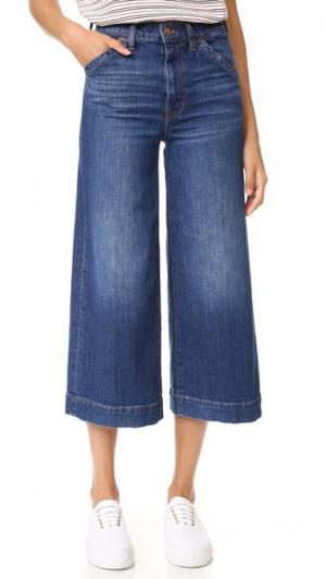 Широкие джинсы цвета индиго Madewell. Цвет: colvin