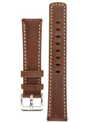 Спортивный ремешок для часов из кожи теленка с водостойкостью 100 м. Ширина от 18 до 24 мм. Signature. Цвет: темно-коричневый