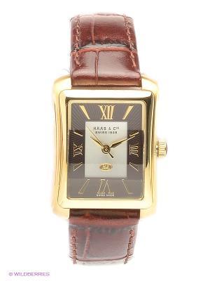 Часы HAAS & Cie. Цвет: коричневый, золотистый