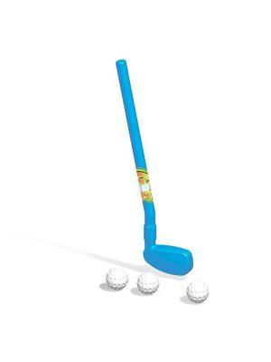 Набор гольф-клюшка и три мячика Dolu.. Цвет: синий