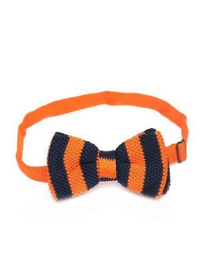 Галстук-бабочка Churchill accessories. Цвет: черный, темно-синий, синий, светло-оранжевый, оранжевый, желтый