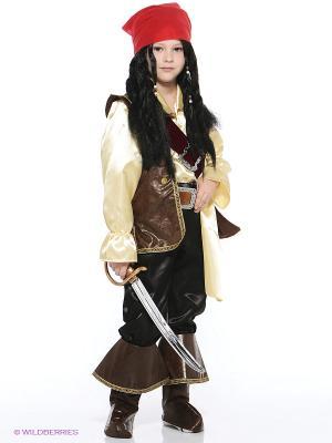 Карнавальный костюм Капитан Джек Воробей Батик. Цвет: коричневый, черный