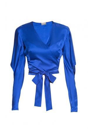 Блуза из шелка 174791 Alexis Mabille. Цвет: синий