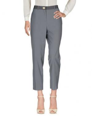 Повседневные брюки SALVATORE FERRAGAMO. Цвет: серый