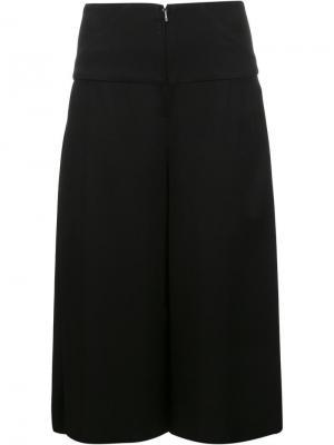 Укороченные широкие брюки Zero + Maria Cornejo. Цвет: чёрный