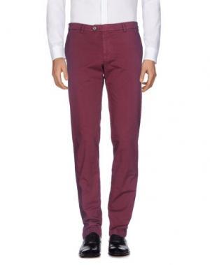 Повседневные брюки TOMBOLINI. Цвет: красно-коричневый