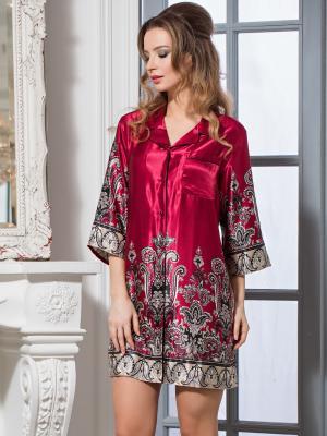 Сорочка MIA-AMORE. Цвет: бордовый