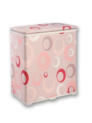 Корзина для белья 49х27х55см Фантазия розовая NIKLEN. Цвет: розовый