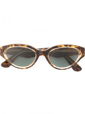 Солнцезащитные очки Drew Sagoma Retrosuperfuture. Цвет: коричневый