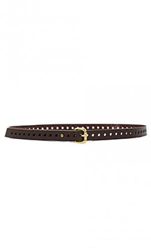 Узкий универсальный ремень Linea Pelle. Цвет: chocolate brown