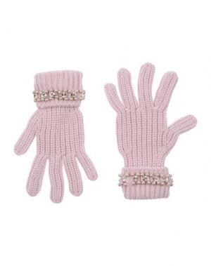 Перчатки BLUGIRL BLUMARINE. Цвет: розовый